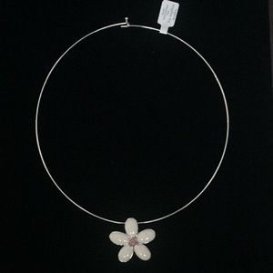 Lia Sophia wire necklace with flower pendant